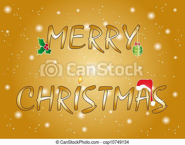 merry christmas - csp10749134