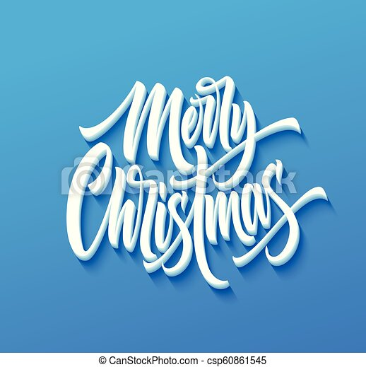 Merry Christmas In Cursive.Merry Christmas Drop Shadow Lettering