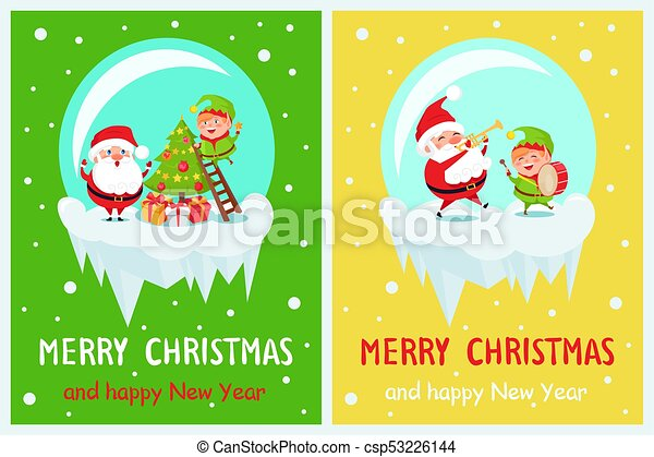 merry christmas elf with star vector illustration - Merry Christmas Elf