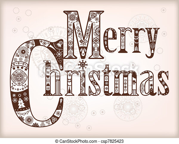 Merry Christmas - csp7825423