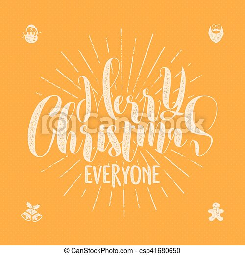Merry christmas everyone lettering holiday wishe sayings and merry christmas everyone lettering holiday wishe sayings and vintage label seasons greetings calligraphy seasonal typography design vector m4hsunfo