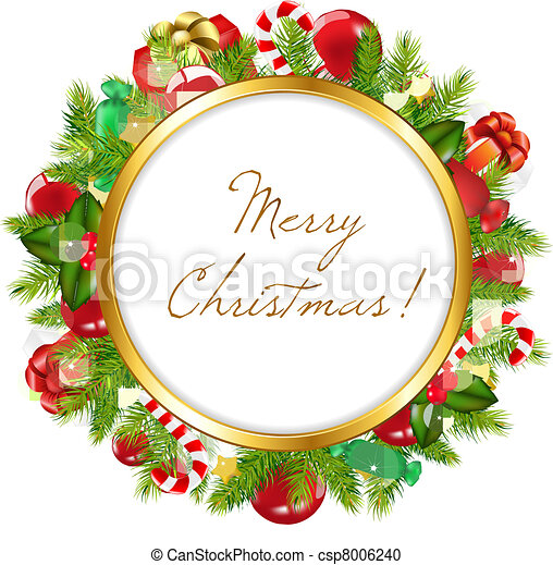 Merry christmas frame, vector illustration vector clipart - Search ...
