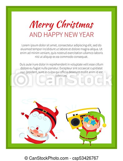Merry christmas funny poster vector illustration. Merry christmas ...