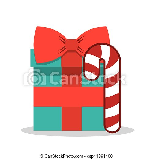 merry christmas gift box vector illustration design vector clipart rh canstockphoto com gift box vector free download gift box vector png