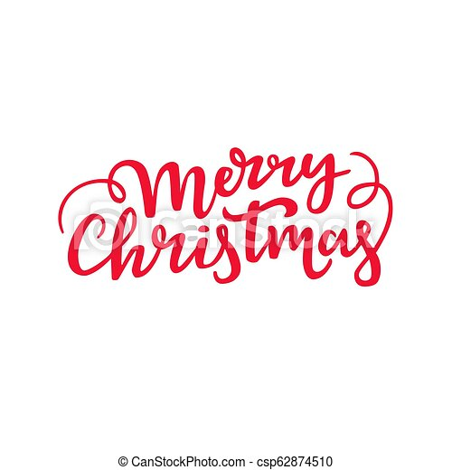 Merry Christmas In Cursive.Merry Christmas Handwritten Lettering Decorative Cursive Script Design Holiday Typography