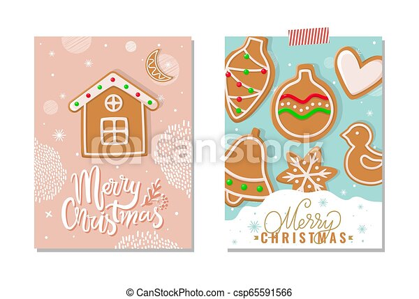 Merry Christmas Happy Holidays Greeting Poster - csp65591566