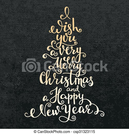 13+ Merry Christmas And A Happy New Year Calligraphy