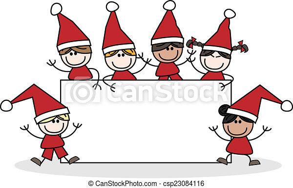 Christmas Header Clipart.Merry Christmas Header Children