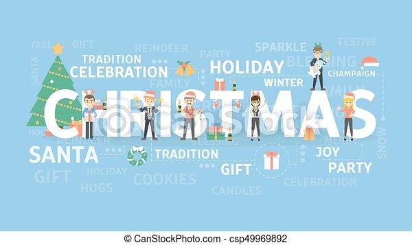 21e588b2f85a6 Merry christmas illustration. Merry christmas illustration concept ...