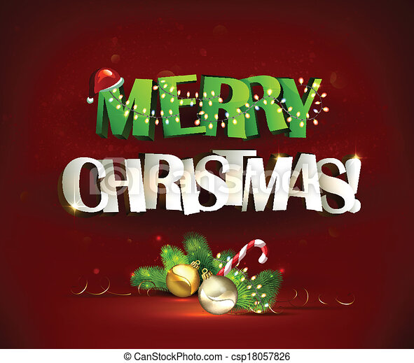 Merry Christmas - csp18057826
