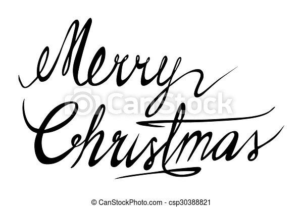 Merry Christmas - csp30388821