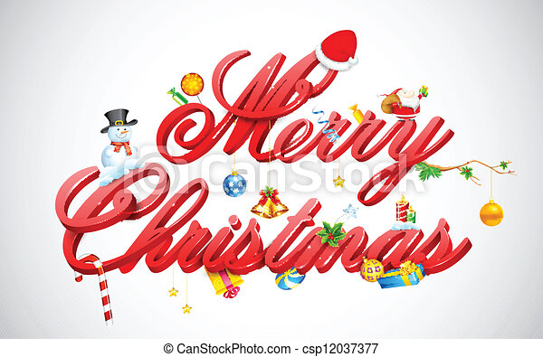 Merry Christmas - csp12037377