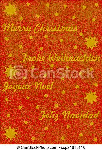 Merry Christmas in 4 Sprachen - csp21815110