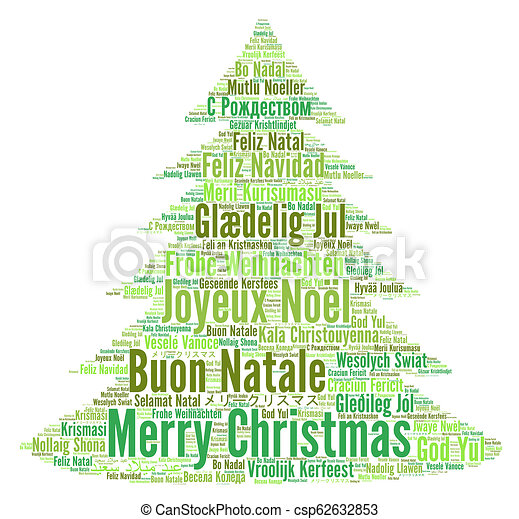 Merry Christmas Different Languages.Merry Christmas In Different Languages Word Cloud