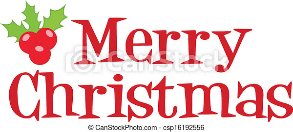 Merry Christmas Lettering  - csp16192556