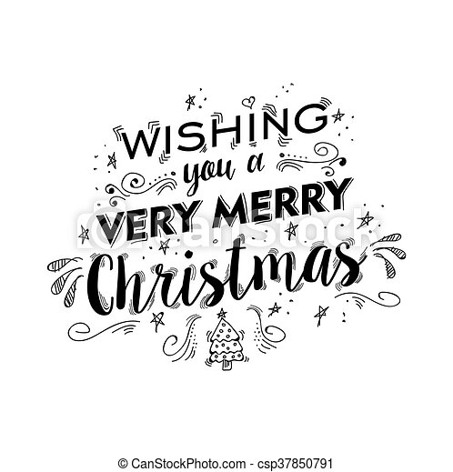 Christmas Lettering.Merry Christmas Lettering Design With Text Quote