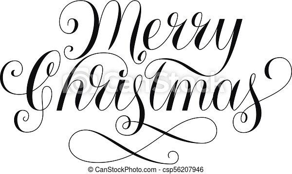 Christmas Lettering.Merry Christmas Lettering
