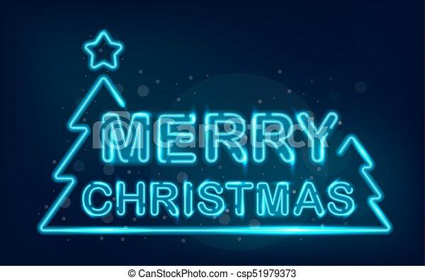 merry christmas neon csp51979373
