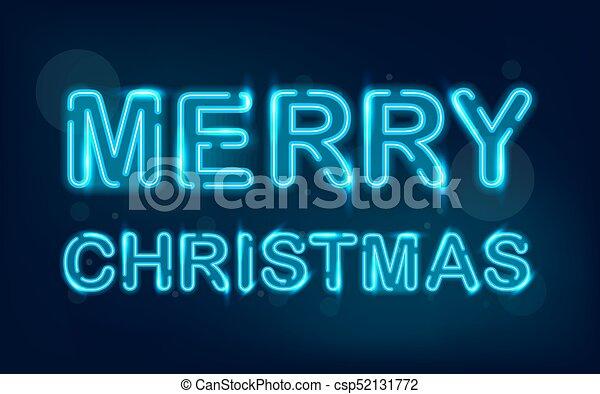 merry christmas neon csp52131772