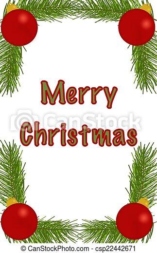 Merry Christmas Ornament Border - csp22442671