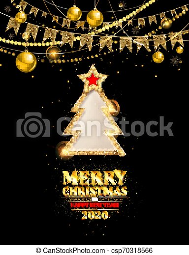Merry Christmas Party And Happy New Year 2020 Invitation Merry Christmas Party And Happy New Year 2020 Poster Banner And Canstock
