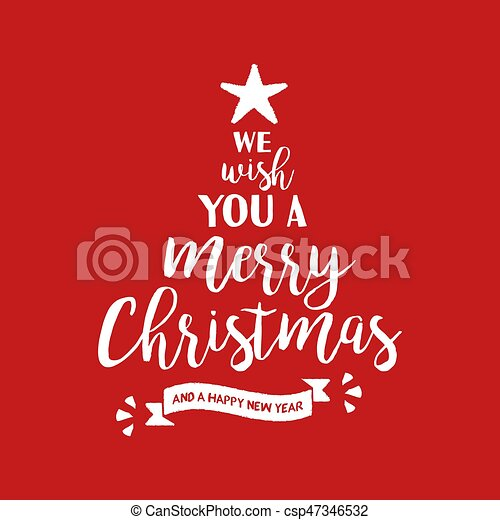 Merry christmas quote tree lettering illustration merry christmas merry christmas quote tree lettering illustration m4hsunfo