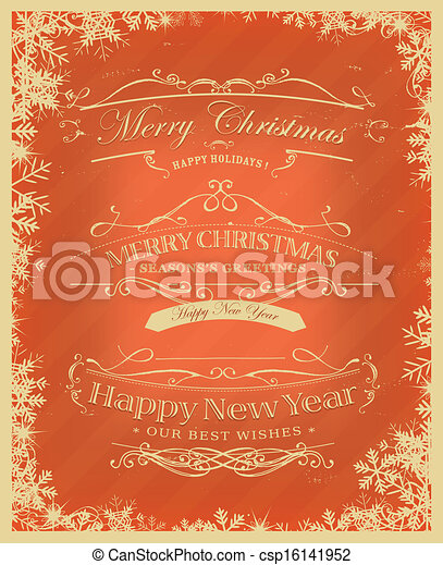 merry christmas retro background csp16141952