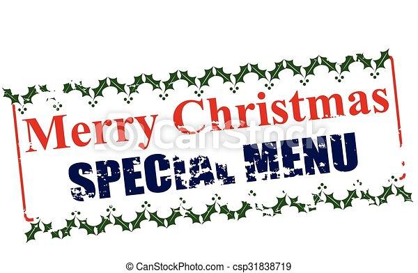 Merry Christmas special menu - csp31838719