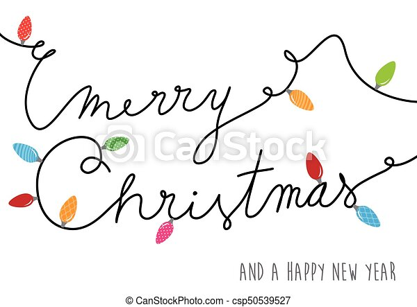 Merry christmas text created of power cable with lots of colorful ...