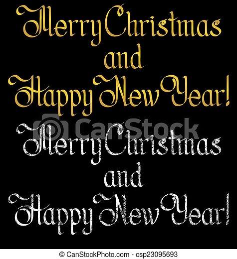 Merry Christmas text - csp23095693