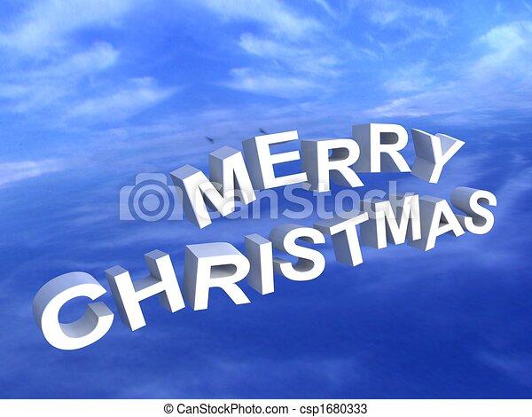 merry christmas text - csp1680333