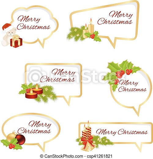 Merry Christmas Text - csp41261821