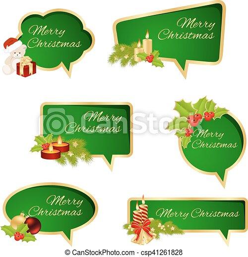 Merry Christmas Text - csp41261828