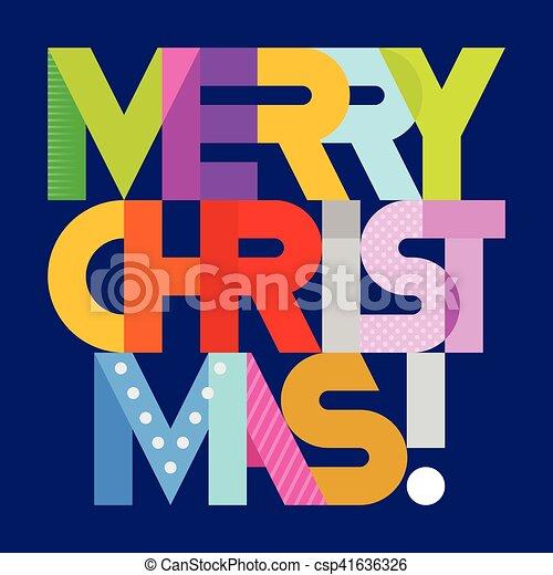Merry Christmas text - csp41636326