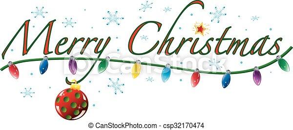 Merry Christmas Text - csp32170474