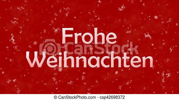 Frohe Weihnachten Text.Merry Christmas Text In German Frohe Weihnachten On Red Background