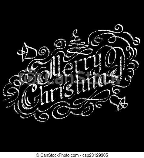 Merry Christmas text - csp23129305