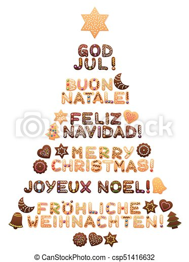 merry christmas tree different languages csp51416632 - How To Say Merry Christmas In French