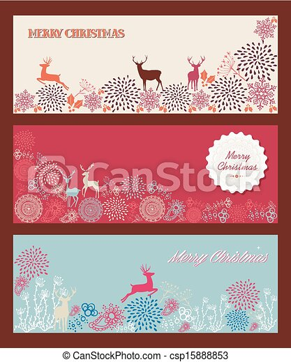 Merry Christmas tree shape with reindeers and other elements composition. EPS10 vector file organized in layers for easy editing. - csp15888853