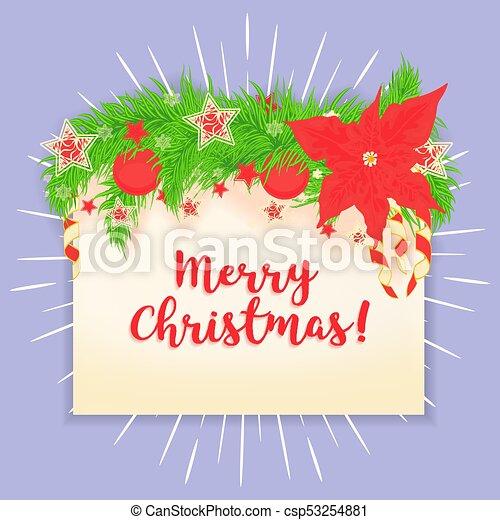 Merry Christmas vector greeting card. - csp53254881