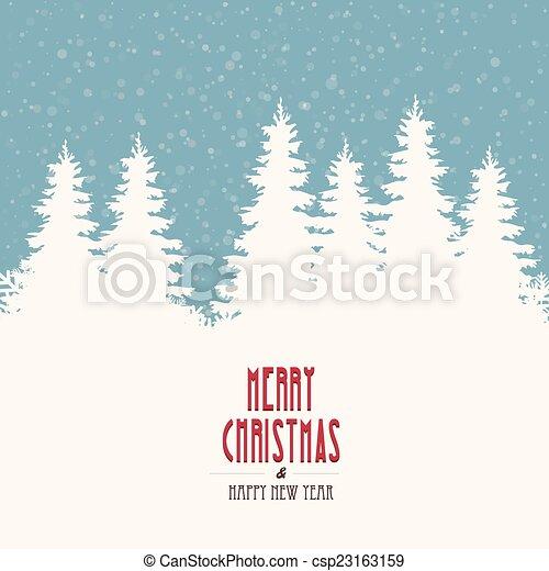 merry christmas winter landscape - csp23163159