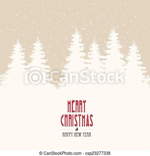 merry christmas winter landscape - csp23277338