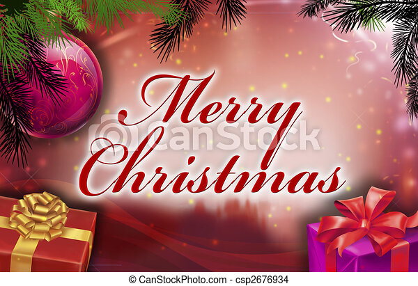 Merry christmas wishes - csp2676934