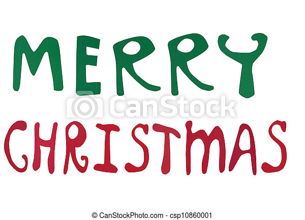 merry christmas words made of paper art csp10860001 - Merry Christmas Words