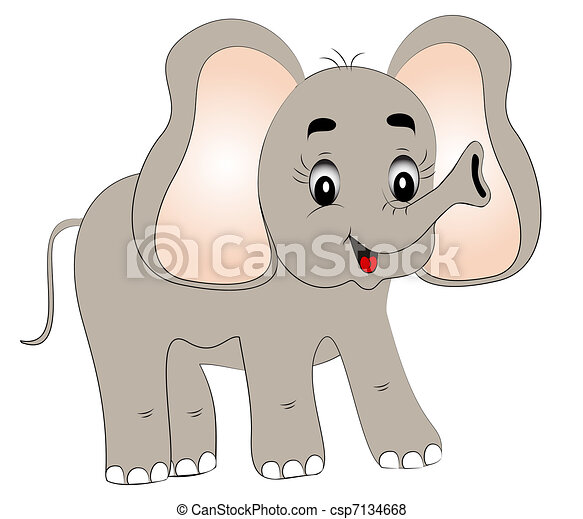 merry young elephant  - csp7134668