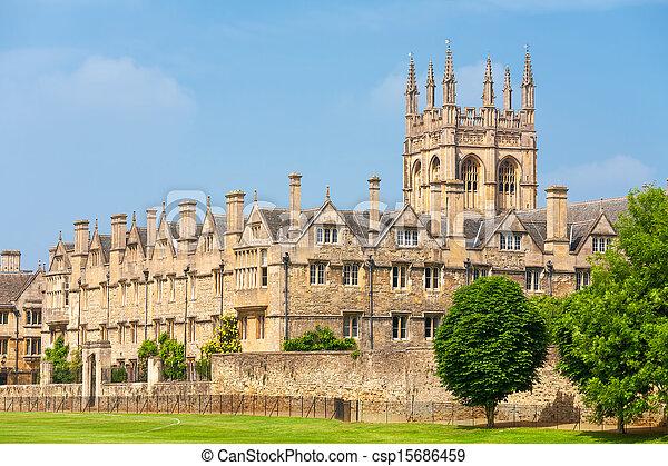 Merton College. Oxford, UK - csp15686459
