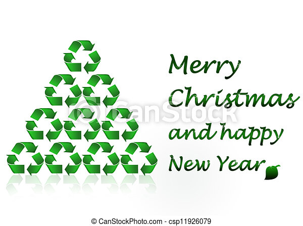 Mery christmas - ecology concept.
