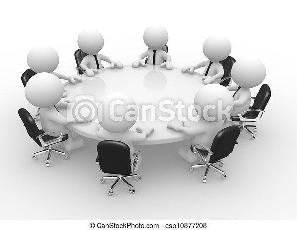 La mesa de conferencias - csp10877208