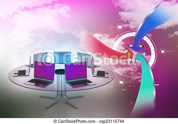 Mesa de conferencias - csp23110744