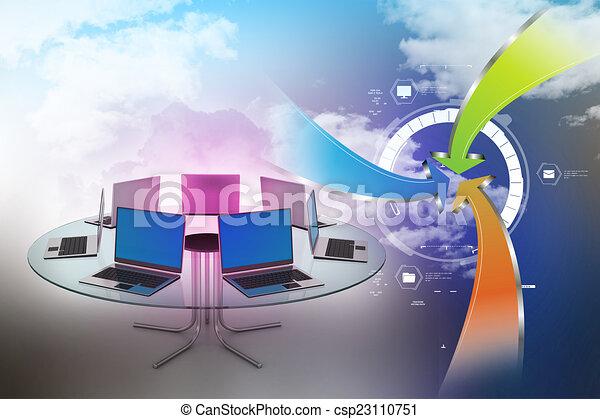 Mesa de conferencias - csp23110751